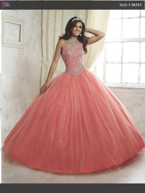 56315 (coral & champagne) Prom                                             dress by Fiesta