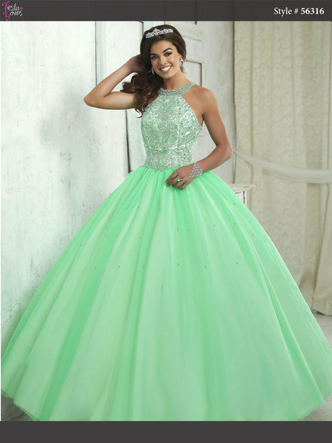 56316 (spring green & ivory) Prom                                             dress by Fiesta