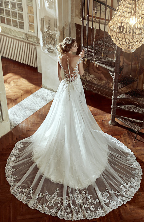 NIAB17053 (back) Wedding                                          dress by Nicole Spose