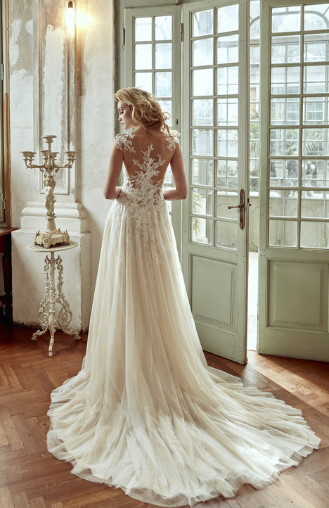 NIAB17080 (back) Wedding                                          dress by Nicole Spose