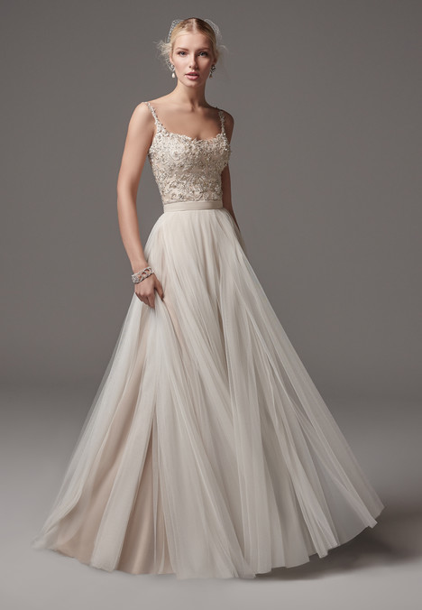 Alita (top) + Ashby (skirt) Wedding                                          dress by Sottero & Midgley