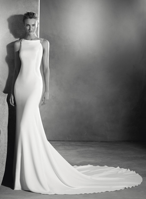 Emmett gown from the 2017 Pronovias Atelier collection, as seen on dressfinder.ca