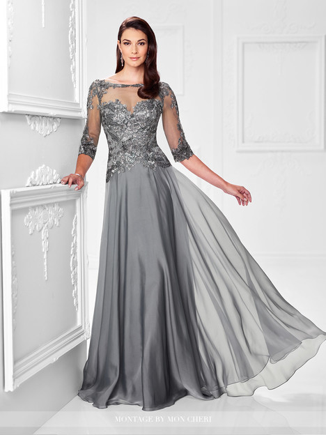 117901 (pewter) Mother of the Bride                              dress by Montage by Mon Cheri