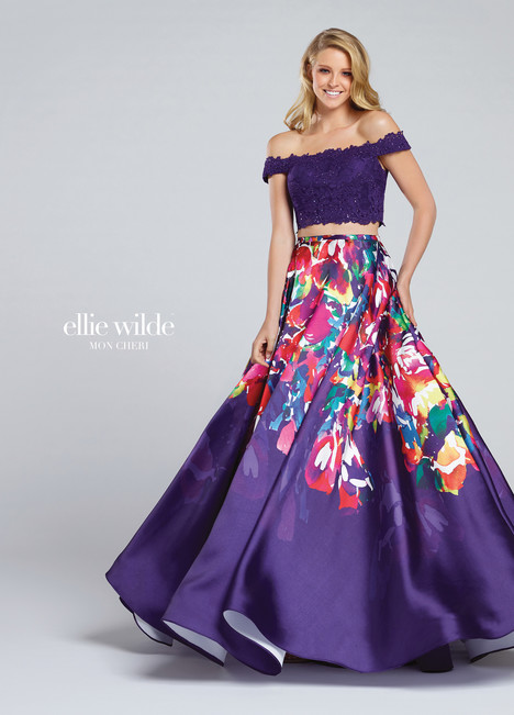 EW117001 (purple) Prom                                             dress by Ellie Wilde