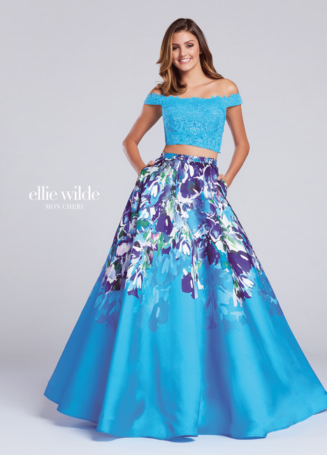 EW117001 (turquoise) Prom                                             dress by Ellie Wilde