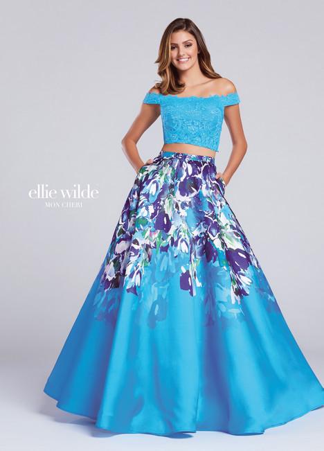 EW117001 (turquoise) Prom                                             dress by Ellie Wilde