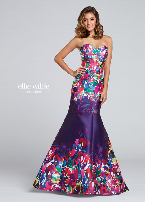 EW117002 (purple) Prom                                             dress by Ellie Wilde