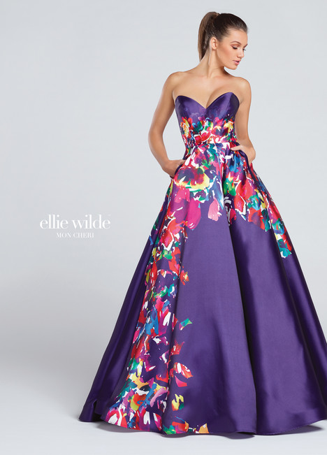 EW117003 (purple) Prom                                             dress by Ellie Wilde