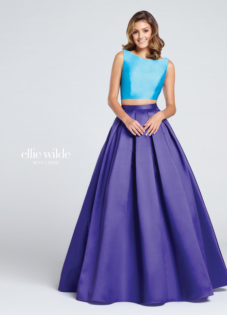 EW117009 (purple & turquoise) Prom                                             dress by Ellie Wilde