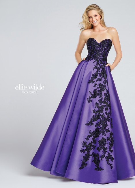 EW117010 (purple & black) Prom                                             dress by Ellie Wilde