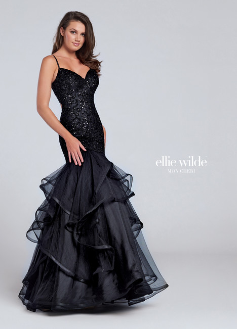 EW1170101 (black) Prom                                             dress by Ellie Wilde