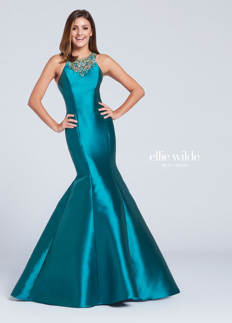 EW117011 (green) Prom                                             dress by Ellie Wilde