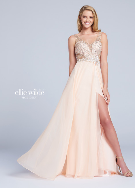 EW117015 (peach) Prom                                             dress by Ellie Wilde