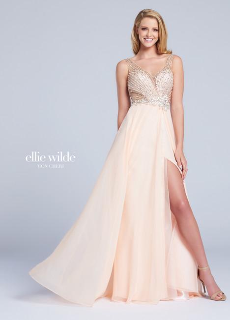 EW117015 (peach) Prom                                             dress by Ellie Wilde