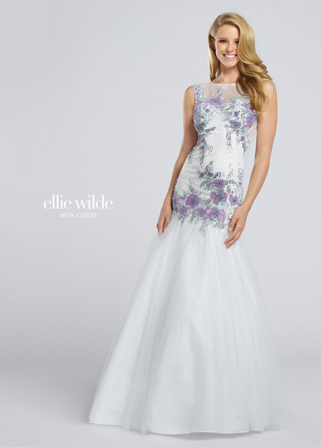 EW117018 (white) Prom                                             dress by Ellie Wilde