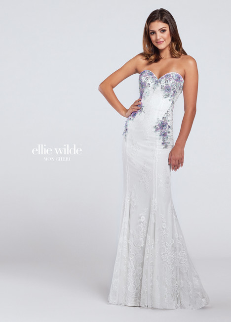 EW117019 (white) Prom                                             dress by Ellie Wilde