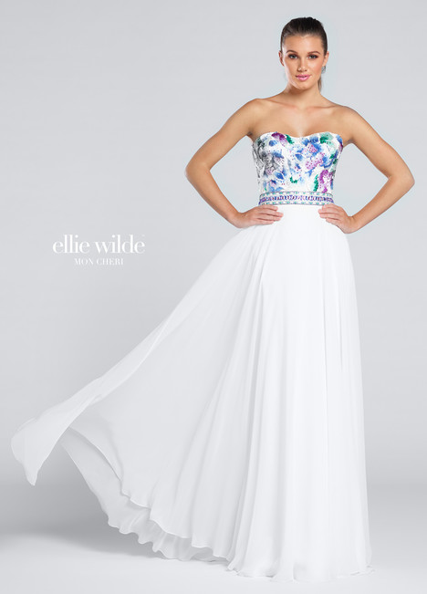 EW117020 (white) Prom                                             dress by Ellie Wilde
