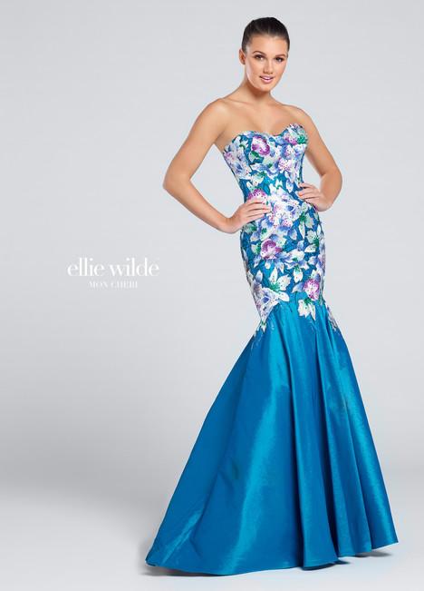 EW117021 (teal) Prom                                             dress by Ellie Wilde