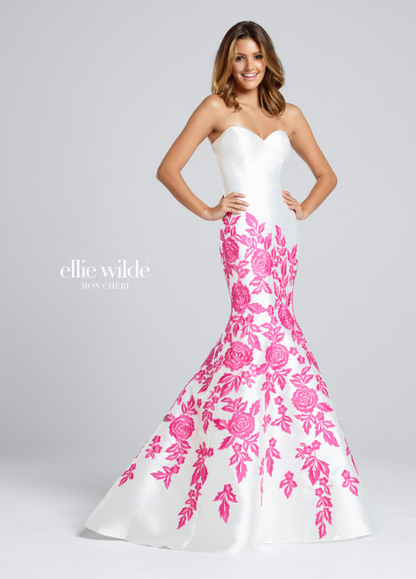EW117023 (white) Prom                                             dress by Ellie Wilde