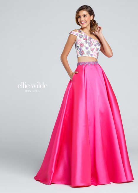 EW117025 (hot pink) Prom                                             dress by Ellie Wilde