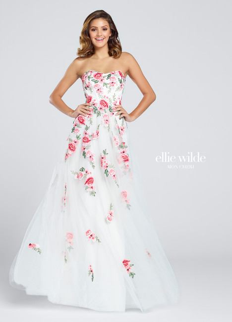 EW117027 (white) Prom                                             dress by Ellie Wilde