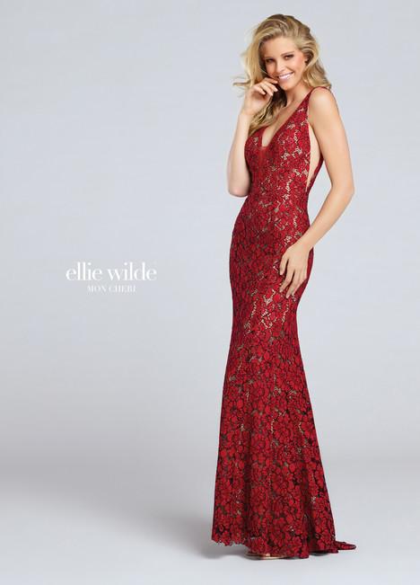 EW117044 (scarlet) Prom                                             dress by Ellie Wilde