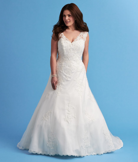 6628W Wedding                                          dress by Romantic Bridals: Curvy Bride