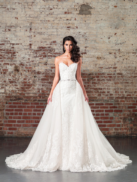9862 (+ overskirt) Wedding                                          dress by Justin Alexander Signature