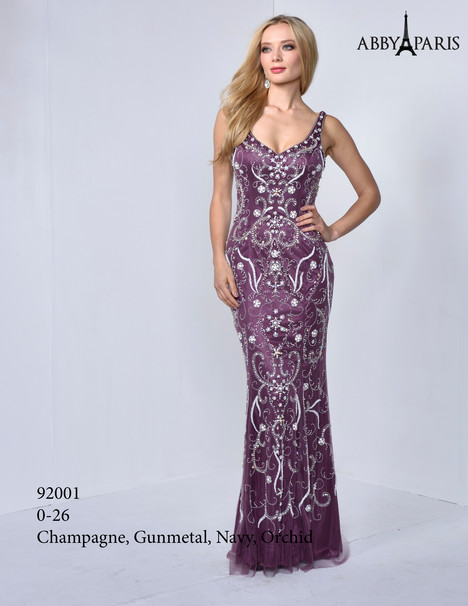 92001 (orchid) Prom                                             dress by Abby Paris