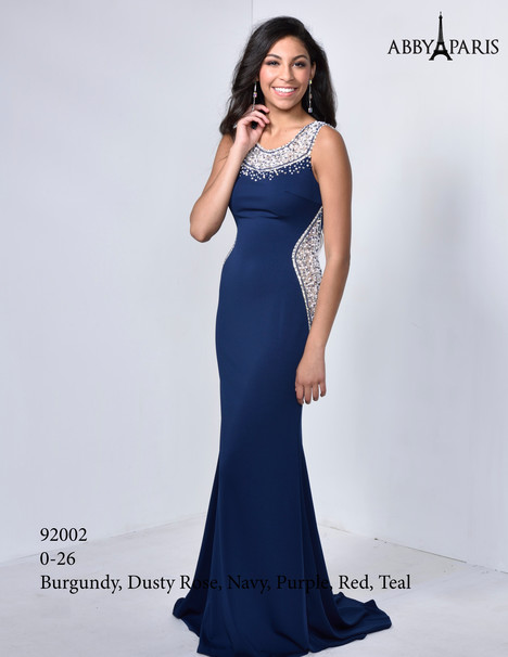 92002 (navy) Prom                                             dress by Abby Paris