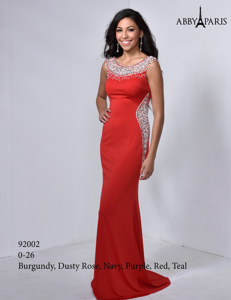 92002 (red) Prom                                             dress by Abby Paris