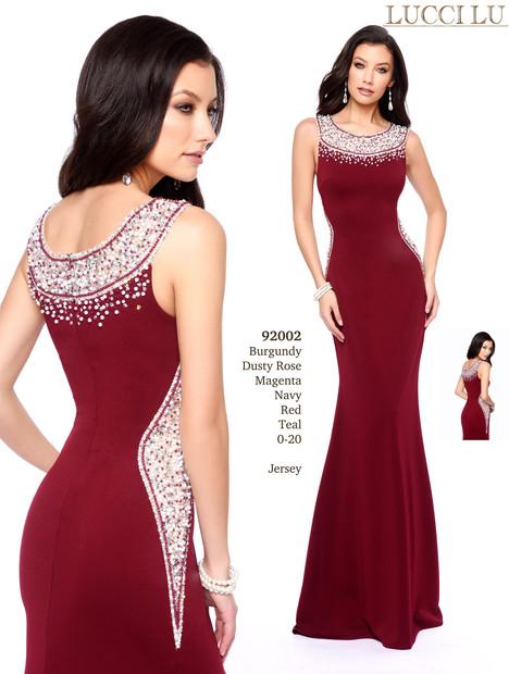 92002 (burgandy) Prom dress by Abby Paris