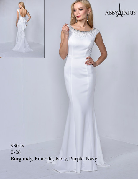 93015 (white) Prom                                             dress by Abby Paris
