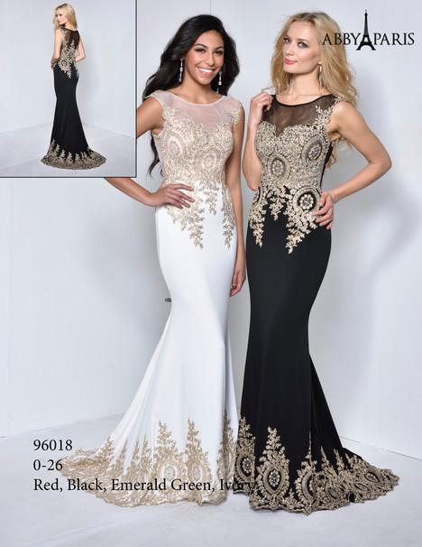 96018 (white & black) Prom dress by Abby Paris