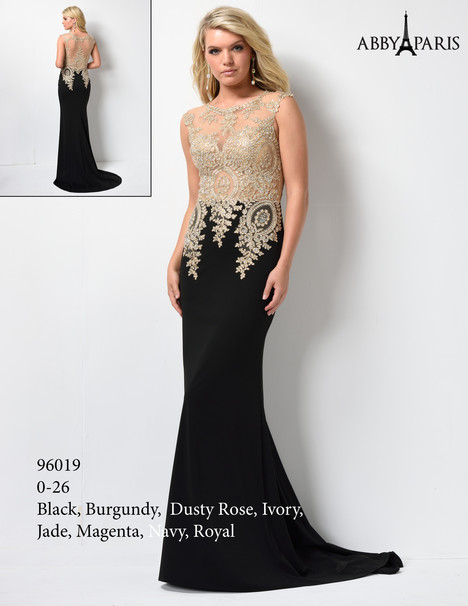 96019 (black + gold) Prom dress by Abby Paris