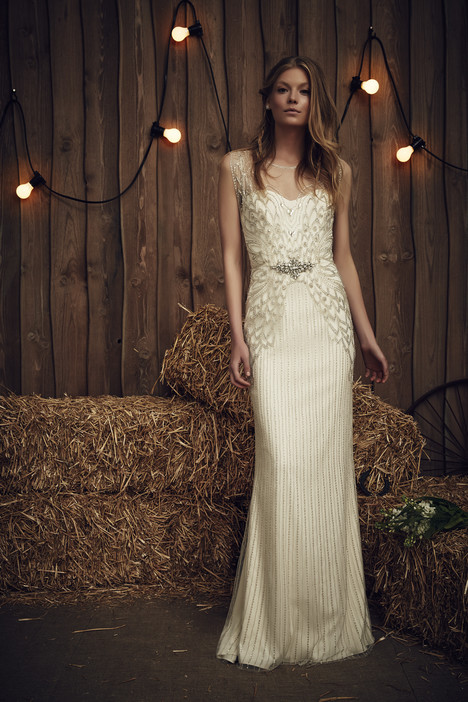 Lyra (JPB634) (silver + ivory) gown from the 2017 Jenny Packham collection, as seen on dressfinder.ca