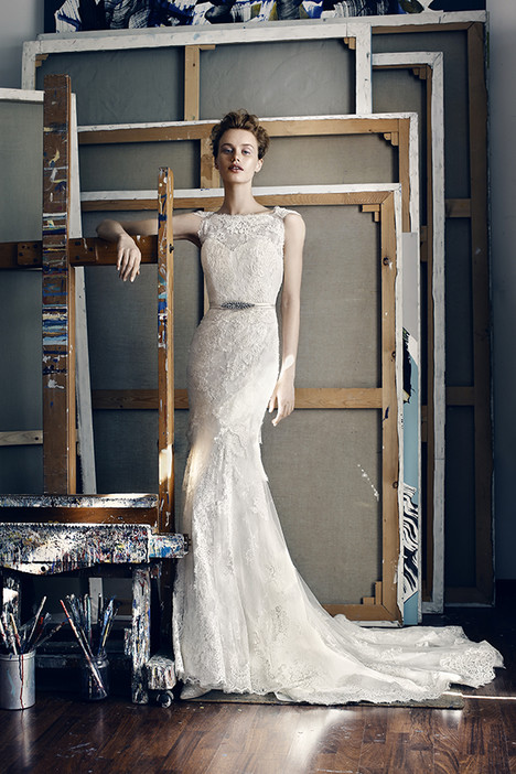 Leo Wedding                                          dress by Lusan Mandongus