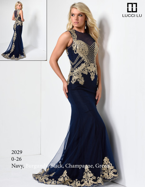 2029 (navy) Prom                                             dress by Lucci Lu