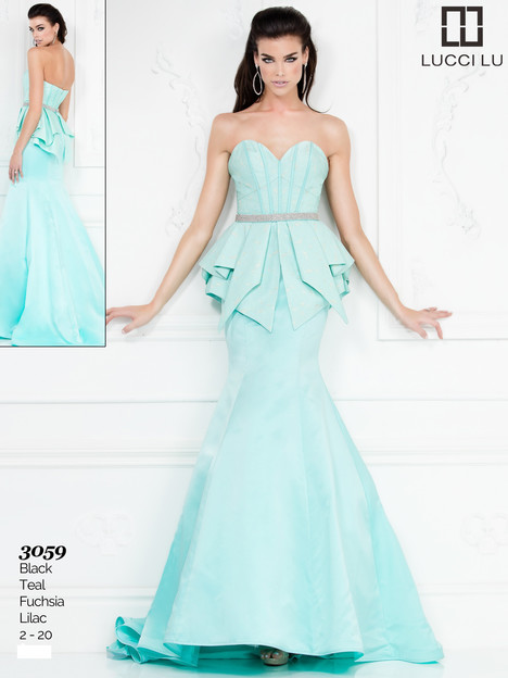 3059 (teal) Prom                                             dress by Lucci Lu