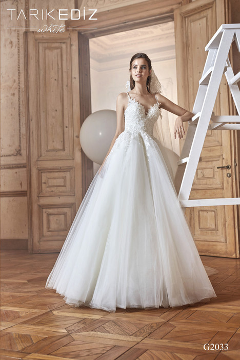 Sevilla (G2033) gown from the 2017 Tarik Ediz: White collection, as seen on dressfinder.ca