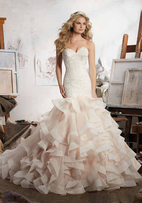 Style 8111 gown from the 2017 Morilee Bridal collection, as seen on dressfinder.ca