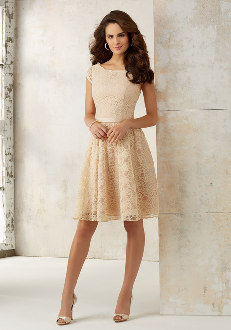 21518 (champagne) Bridesmaids                                      dress by Mori Lee : Bridesmaids
