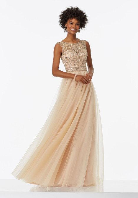 99042 (nude) Prom                                             dress by Mori Lee Prom