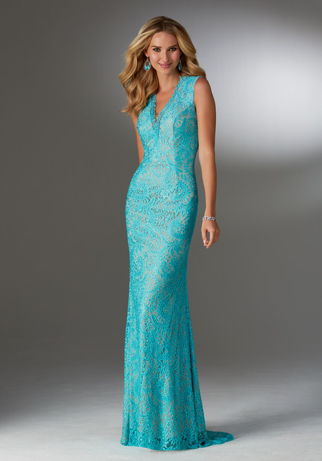 Style 71502, (teal) gown from the 2017 MGNY Madeline Gardner collection, as seen on dressfinder.ca