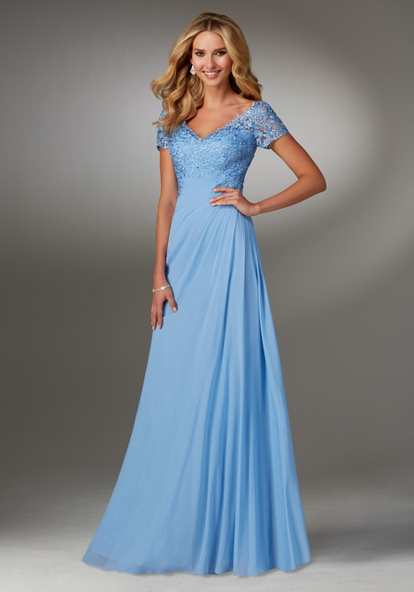 (light blue) Mother of the Bride dress by MGNY Madeline Gardner