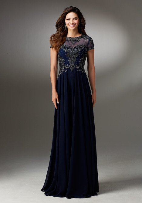 (navy) Mother of the Bride dress by MGNY Madeline Gardner