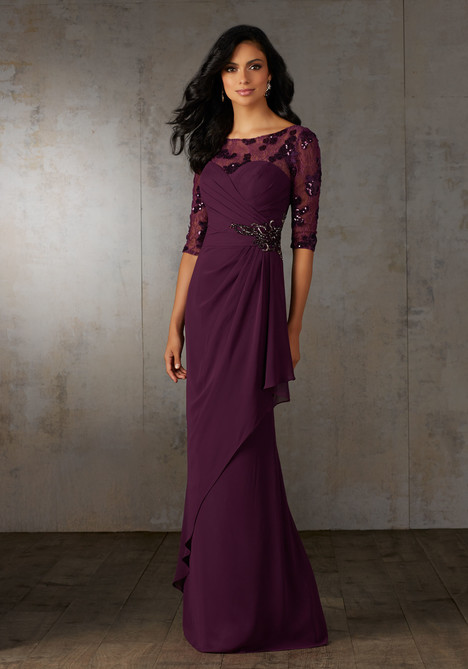 71526 (eggplant) Mother of the Bride                              dress by MGNY Madeline Gardner