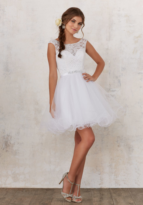 (white) Prom dress by Morilee Damas