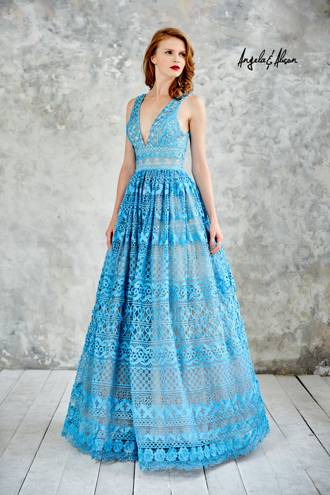 771004 (turquoise) Prom                                             dress by Angela & Alison Prom