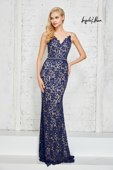 771018 (navy) Prom                                             dress by Angela & Alison Prom